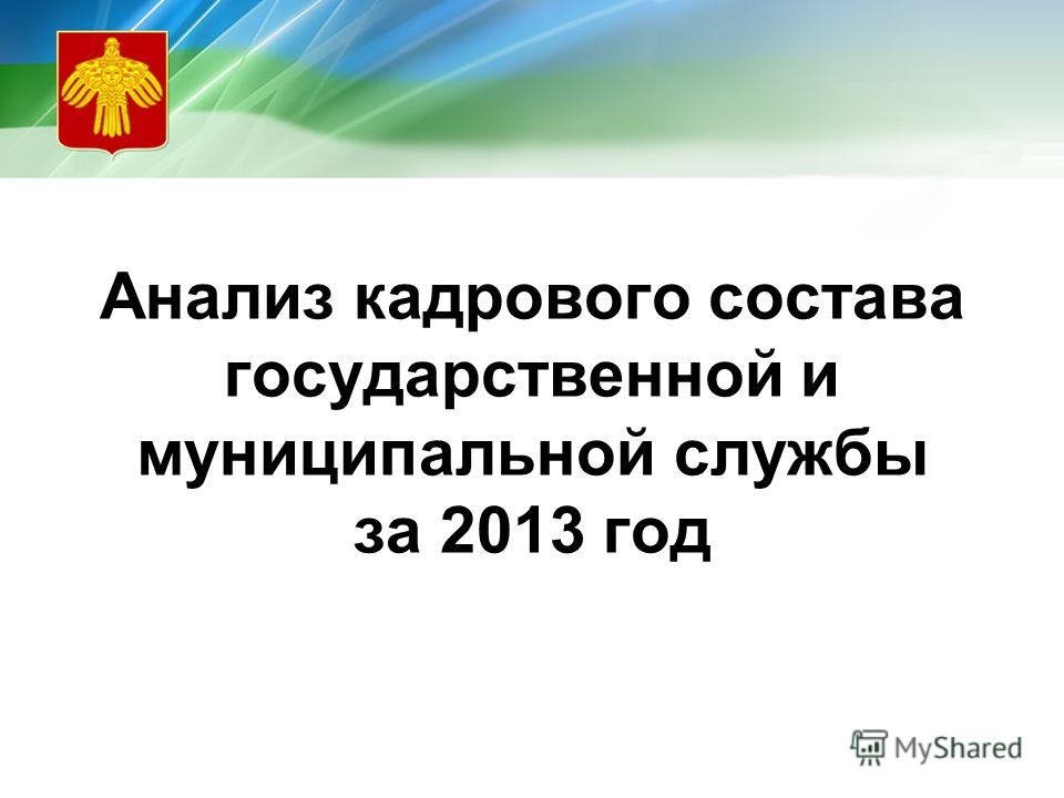 Анализ кадрового состава государственной и муниципальной службы за 2013 год