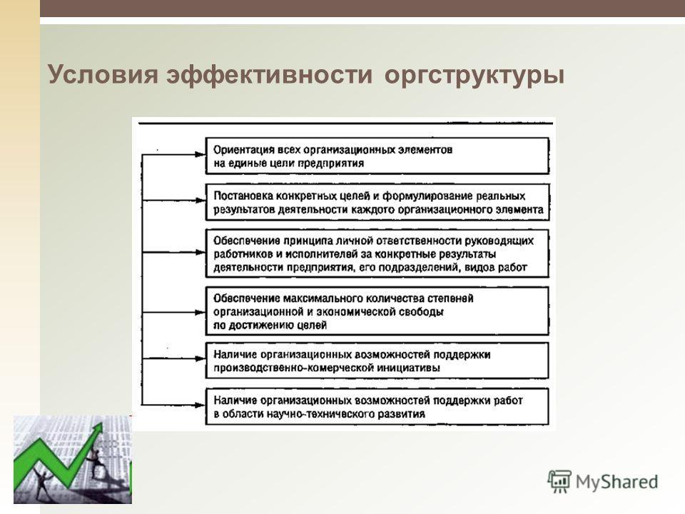 Условия эффективности оргструктуры