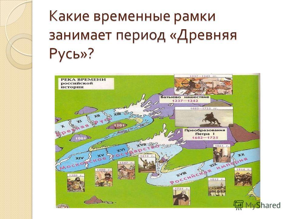 Какие временные рамки занимает период « Древняя Русь »?