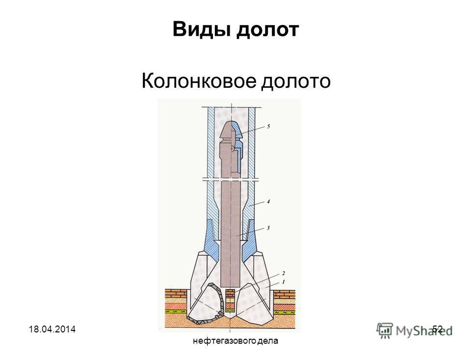 Исмаилов А.А. Основы нефтегазового дела 52 Виды долот Колонковое долото 18.04.2014