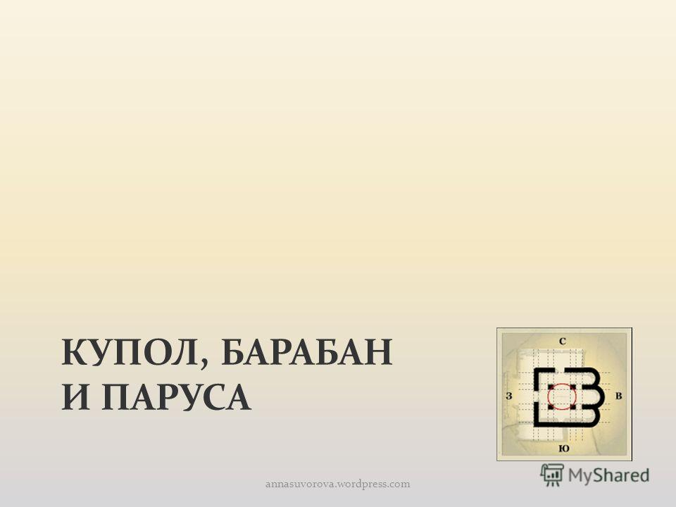КУПОЛ, БАРАБАН И ПАРУСА annasuvorova.wordpress.com
