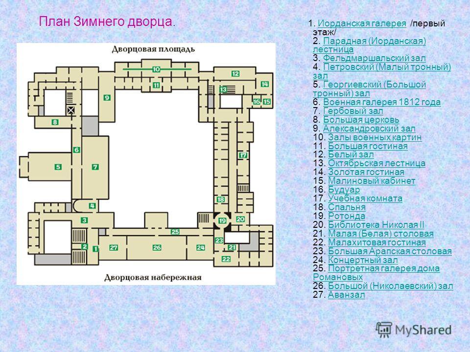 План Зимнего дворца. 1.