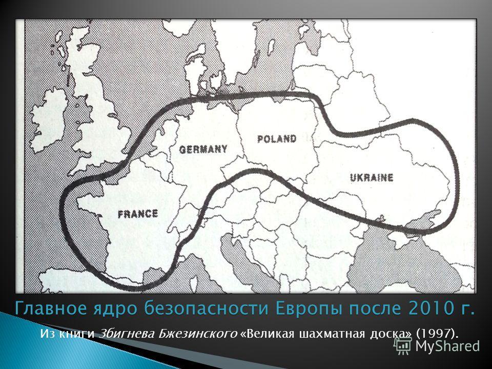 Из книги Збигнева Бжезинского «Великая шахматная доска» (1997). Главное ядро безопасности Европы после 2010 г.