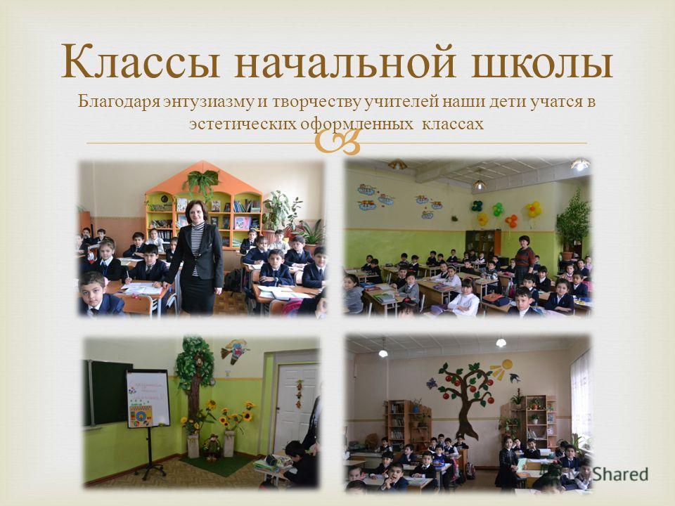 Классы начальной школы Благодаря энтузиазму и творчеству учителей наши дети учатся в эстетических оформленных классах