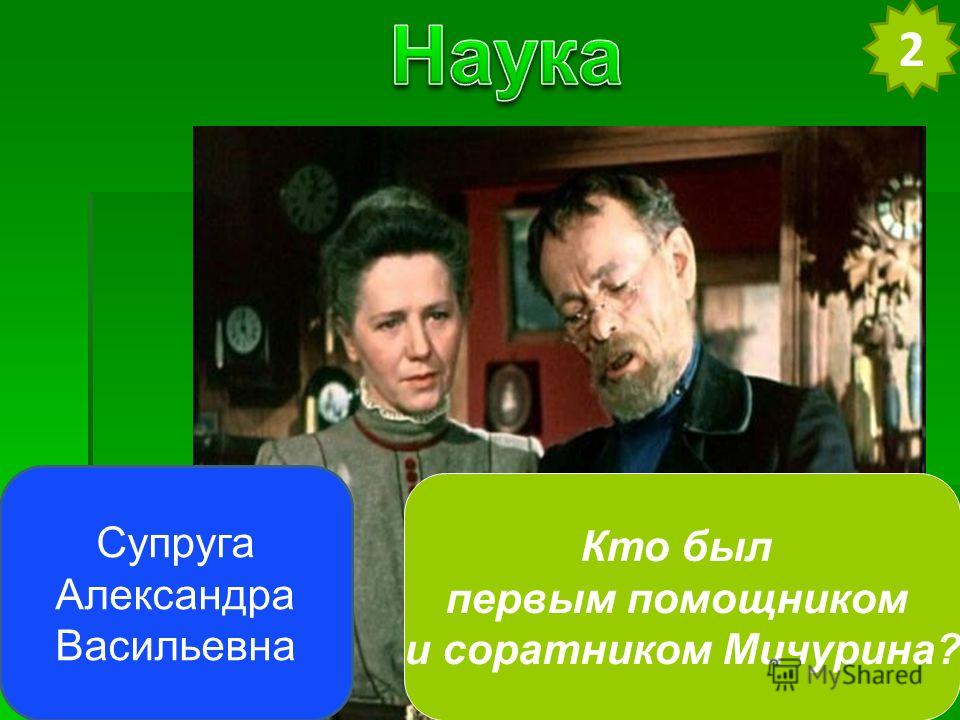 Супруга Александра Васильевна 2 Кто был первым помощником и соратником Мичурина?