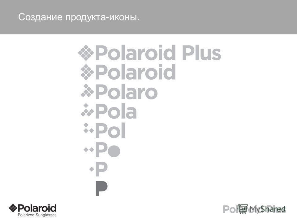 Создание продукта-иконы.