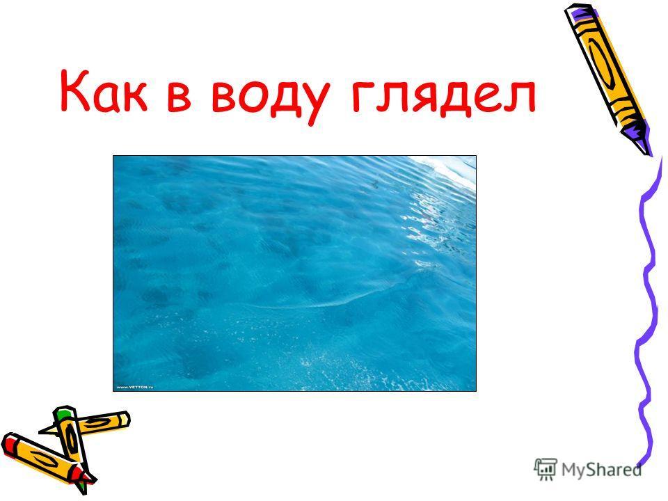 Как в воду глядел