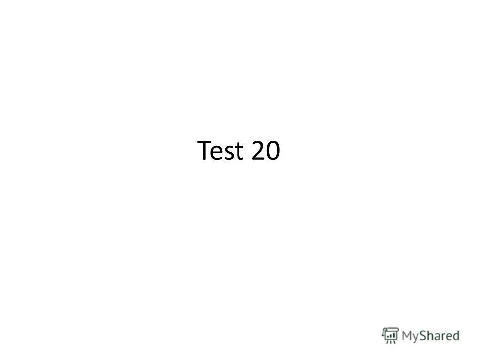 Test 20