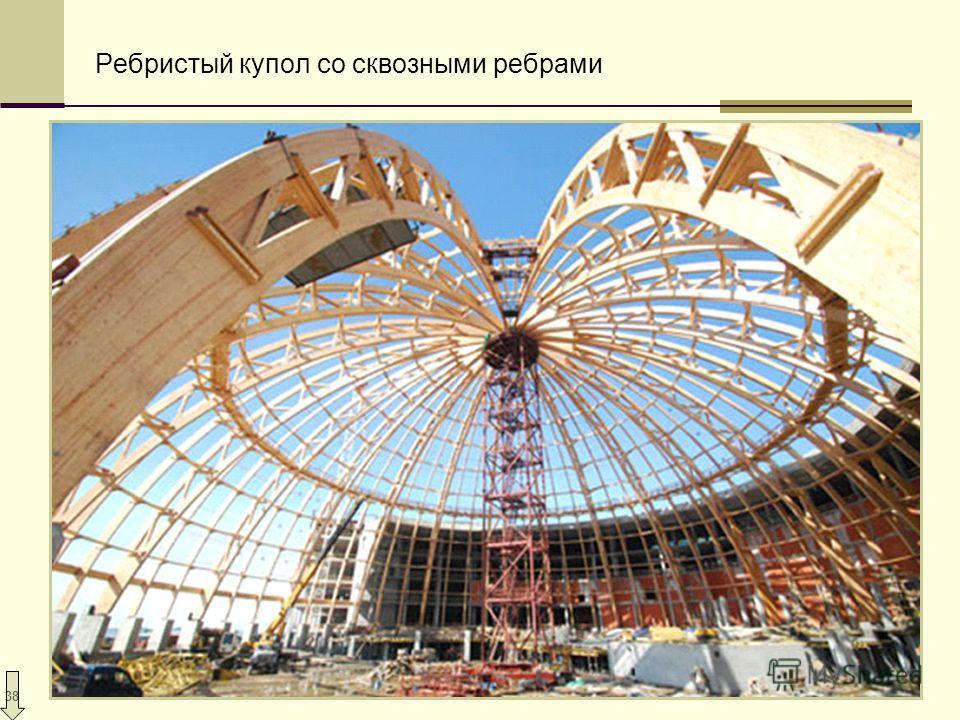 38 Ребристый купол со сквозными ребрами