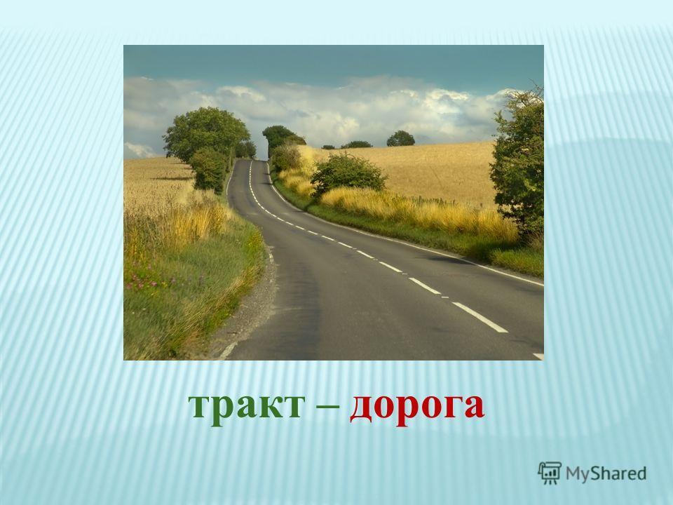 тракт – дорога