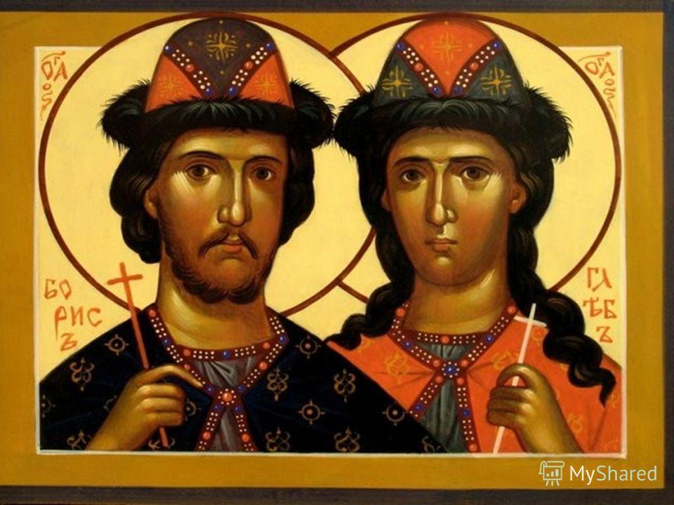 Фото иконы Святых Бориса и Глеба ©Иконописец Виктор Морозов 2006