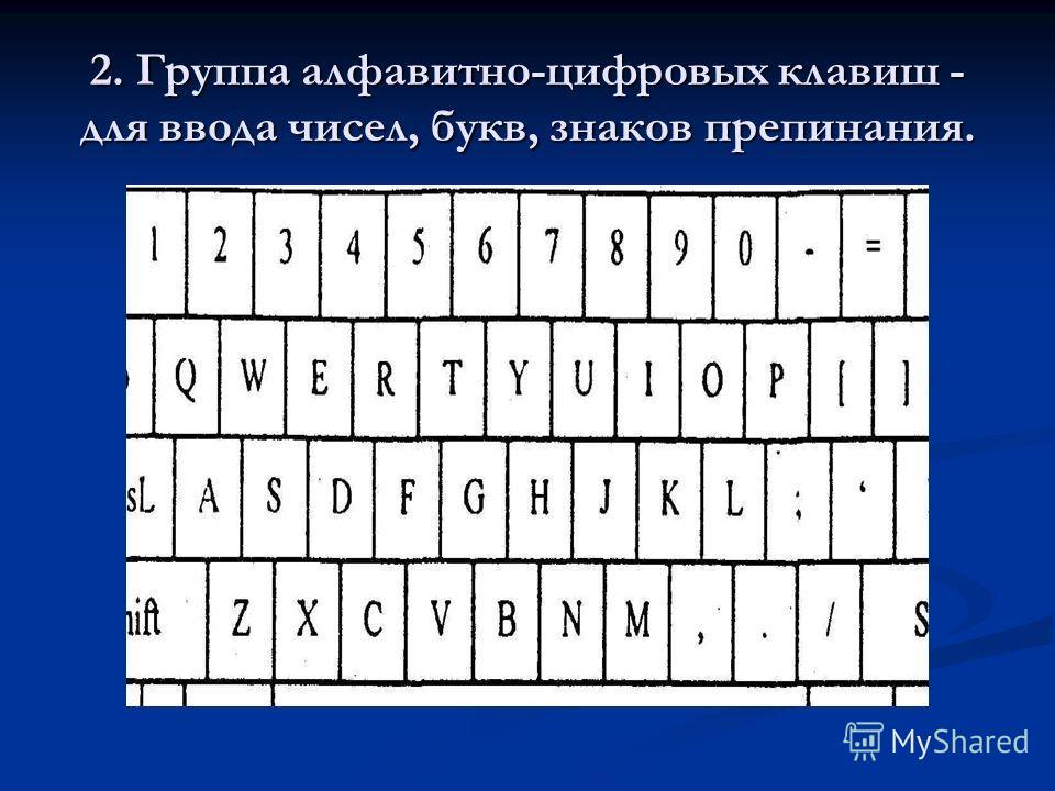Она содержит более 100 клавиш 1. Группу функциональных клавиш (от F1 до F12) - могут программироваться пользователем. Например, во многих программах для получения помощи (подсказки) задействована клавиша F1, а для выхода из программы клавиша F10. 1.