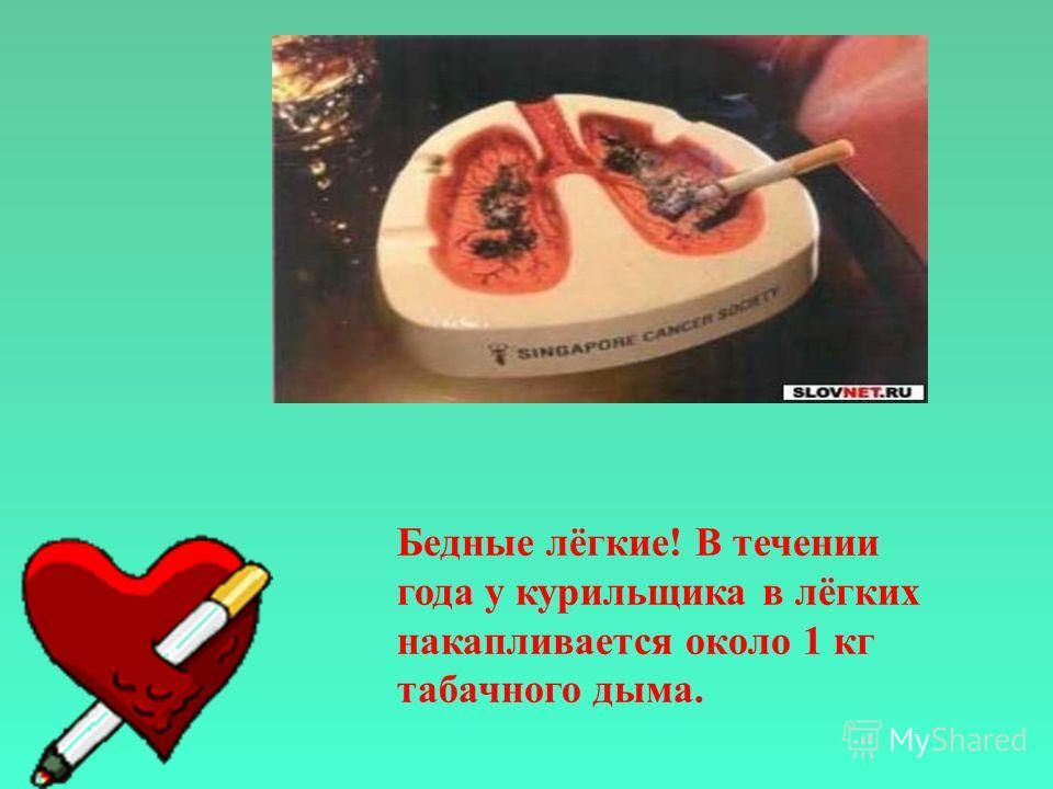 В медицине известен случай, когда при вскрытии трупа скальпель заскрежетал о камень, оказалось, что в лёгких скопилось около 1.5 кг угля. Этот человек курил и умер от рака лёгких. Курение повышает риск инфаркта, инсульта, заболеваний мозга, гангрены