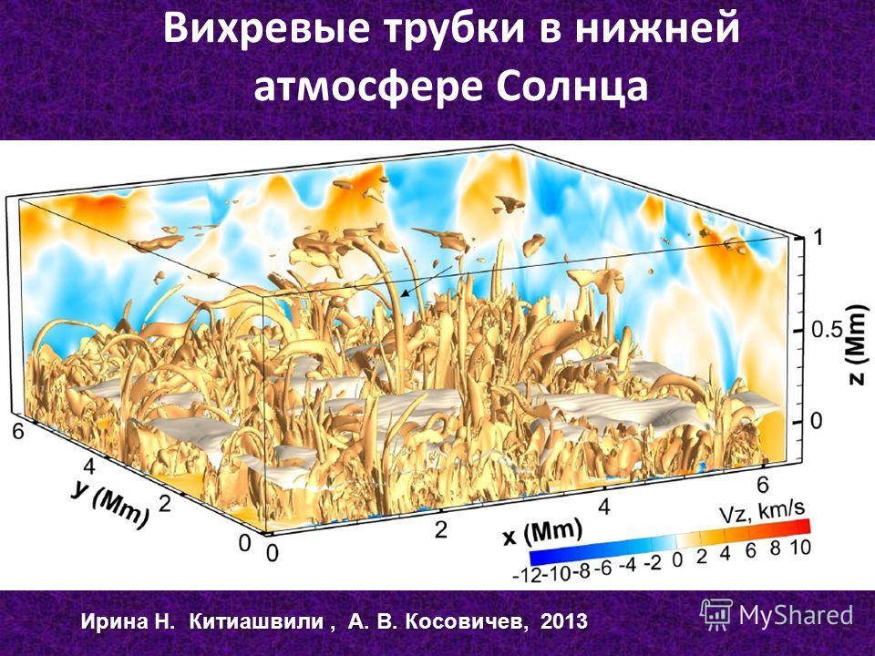 Вихревые трубки в нижней атмосфере Солнца Ирина Н. Китиашвили, А. В. Косовичев, 2013