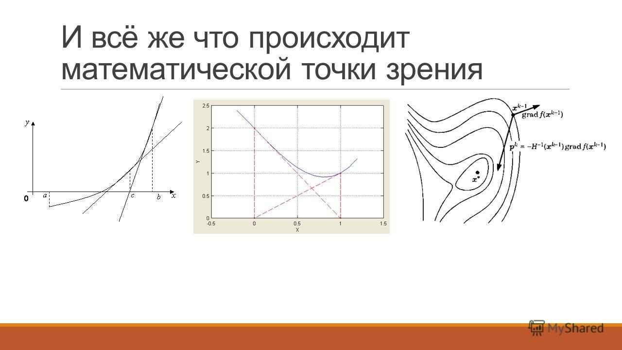 И всё же что происходит математической точки зрения