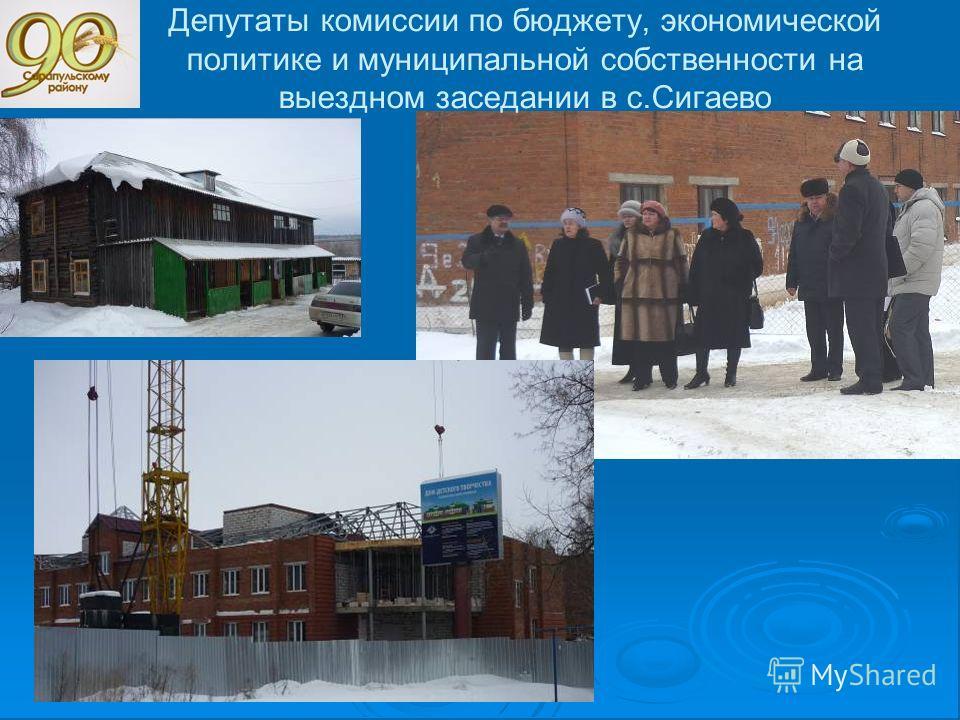 Депутаты комиссии по бюджету, экономической политике и муниципальной собственности на выездном заседании в с.Сигаево