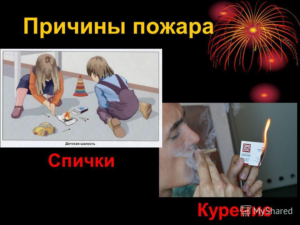 Спички Курение Причины пожара