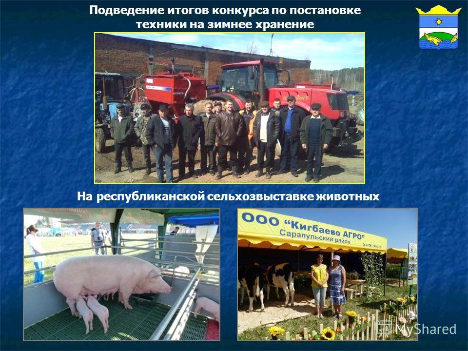 На республиканской сельхозвыставке животных Подведение итогов конкурса по постановке техники на зимнее хранение