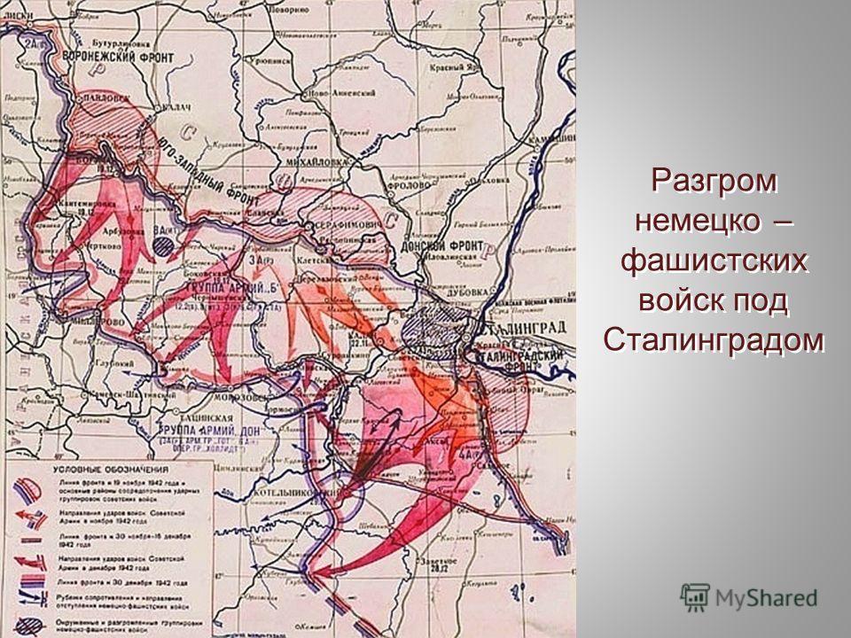 Разгром немецко – фашистских войск под Сталинградом