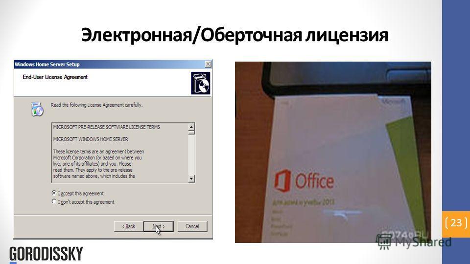 Электронная/Оберточная лицензия 23