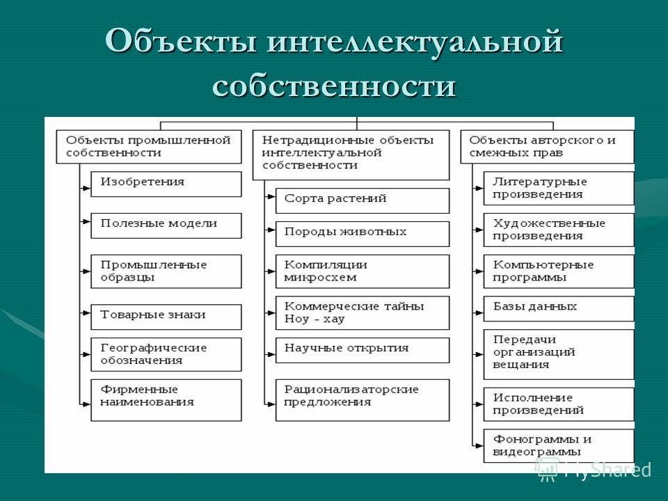 Объекты интеллектуальной собственности