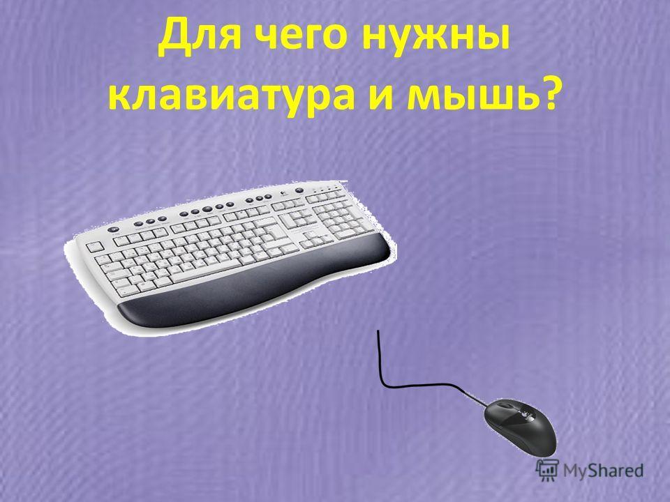 Для чего нужны клавиатура и мышь?