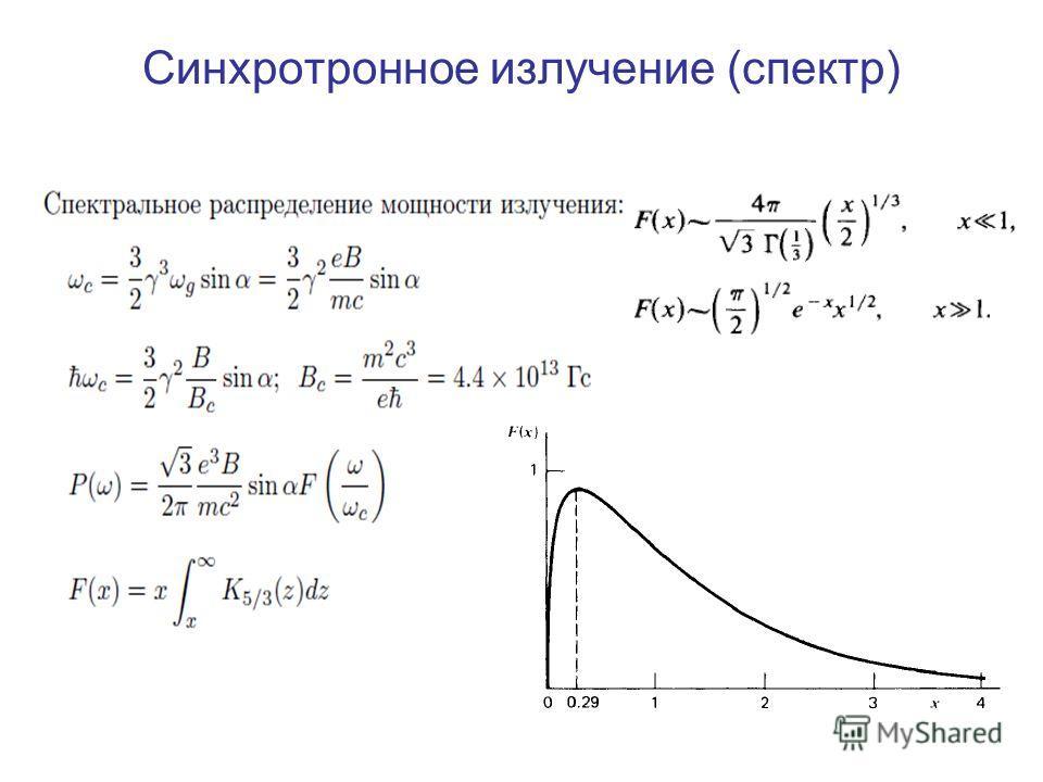 Синхротронное излучение (спектр)