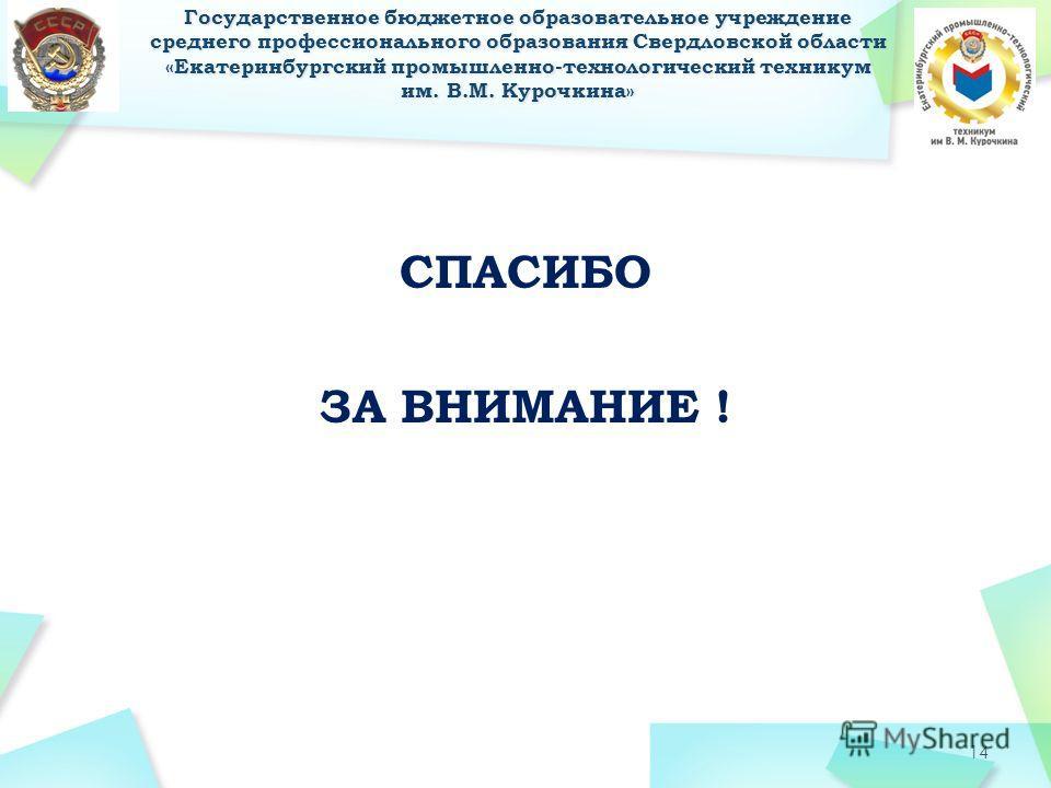 СПАСИБО ЗА ВНИМАНИЕ ! 14