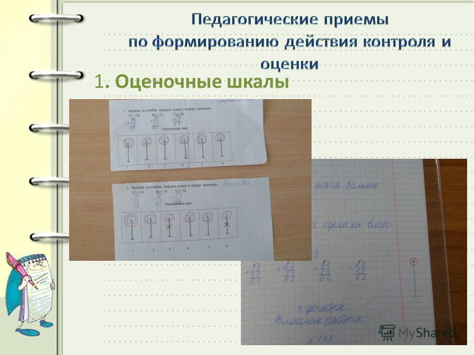 1. Оценочные шкалы