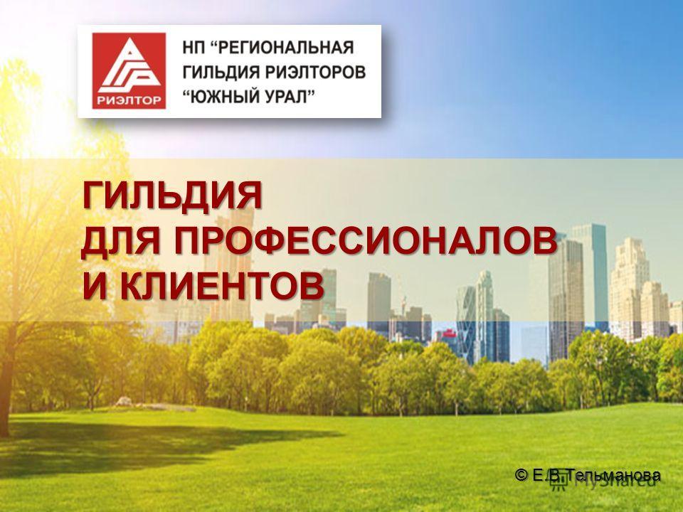 ГИЛЬДИЯ ДЛЯ ПРОФЕССИОНАЛОВ И КЛИЕНТОВ © Е.В.Тельманова