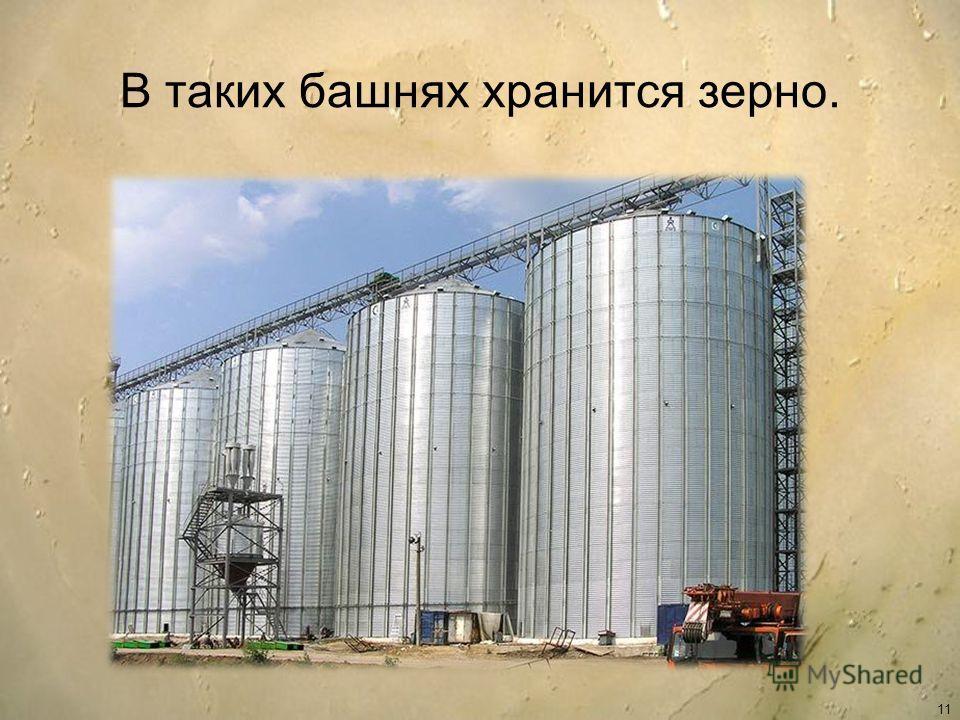 В таких башнях хранится зерно. 11
