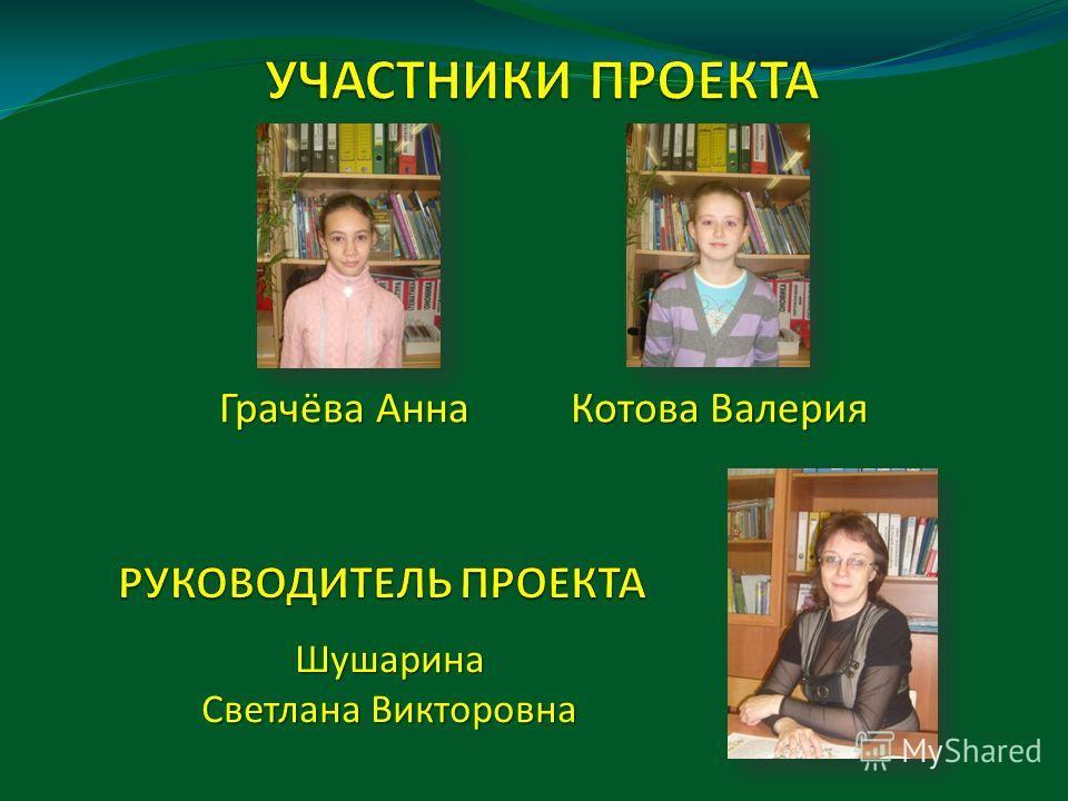 Грачёва Анна Котова Валерия Шушарина Светлана Викторовна