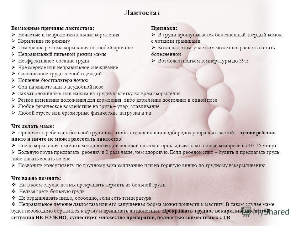 Антибиотики от мастита при грудном вскармливании