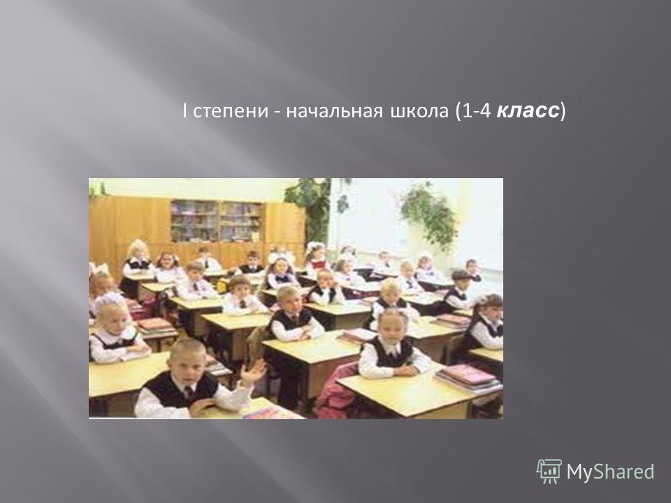 I степени - начальная школа (1-4 класс )