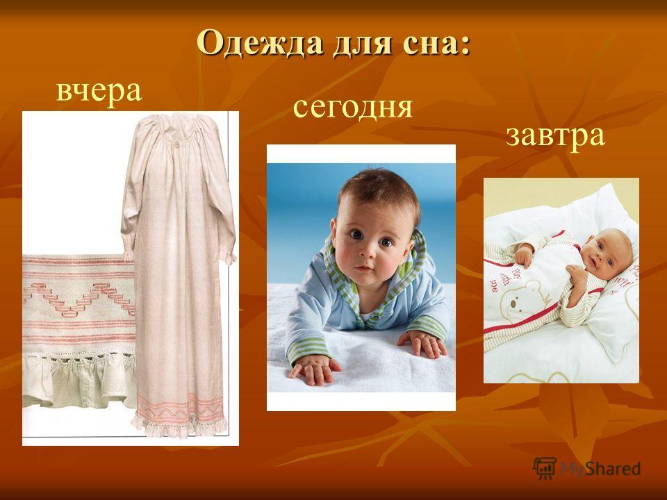 Одежда для сна: вчера сегодня завтра