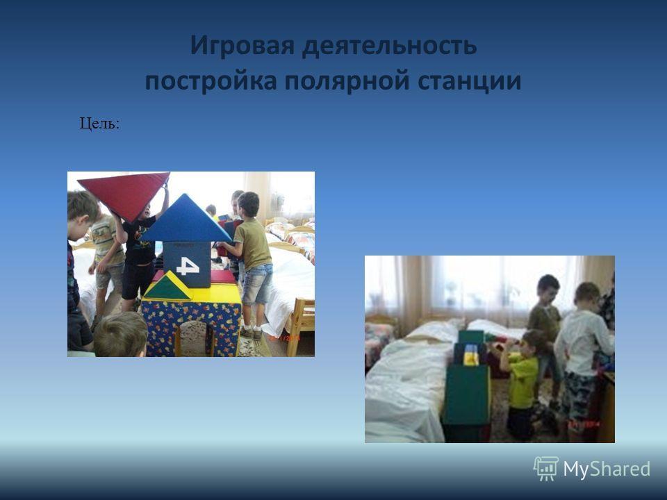 Игровая деятельность постройка полярной станции Цель: