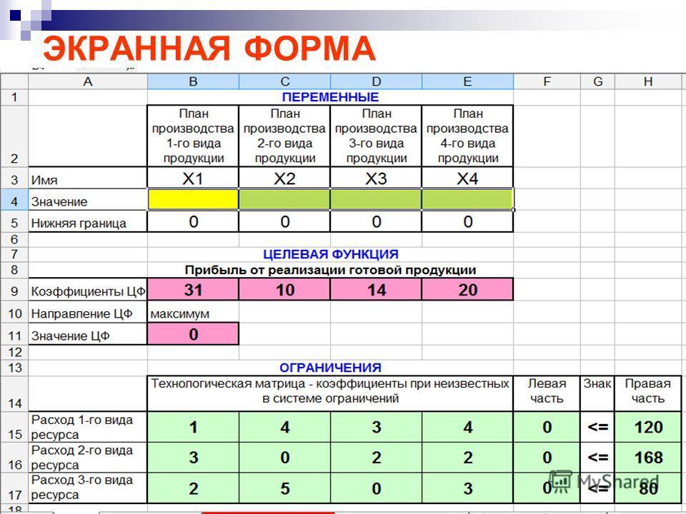 Ткаченко М.Г.6 ЭКРАННАЯ ФОРМА