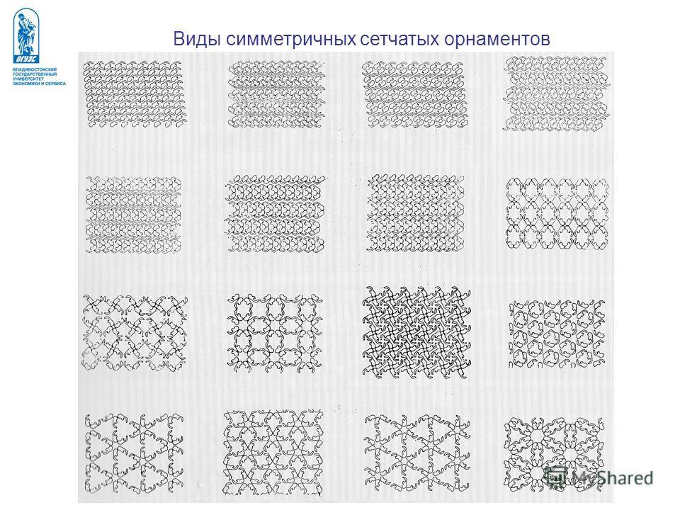 Виды симметричных сетчатых орнаментов