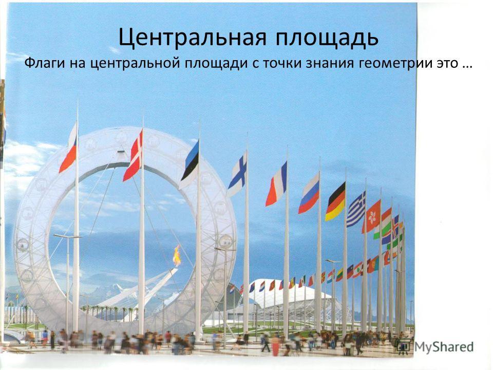 Центральная площадь Флаги на центральной площади с точки знания геометрии это …