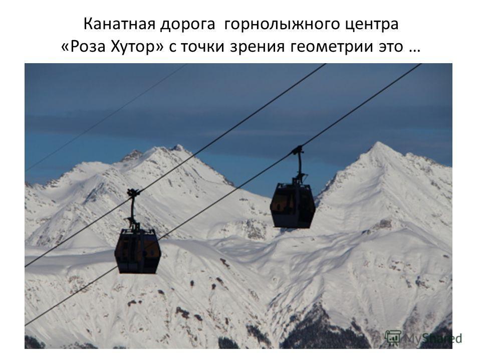 Канатная дорога горнолыжного центра «Роза Хутор» с точки зрения геометрии это …