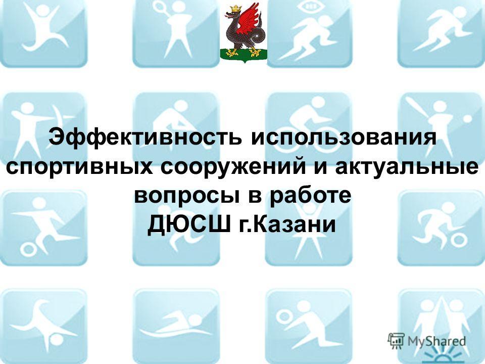 Эффективность использования спортивных сооружений и актуальные вопросы в работе ДЮСШ г.Казани