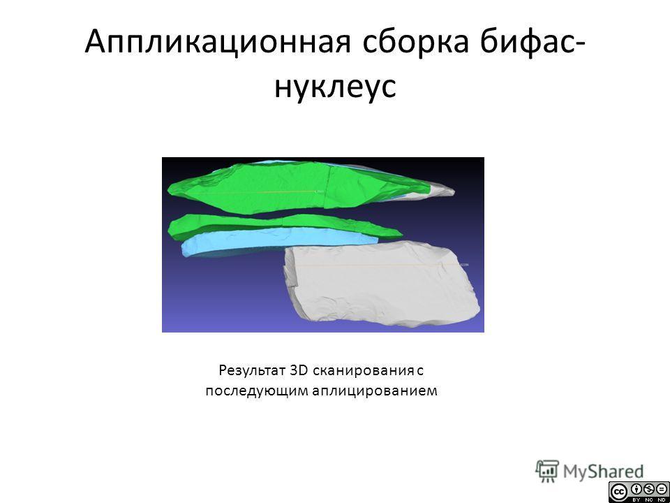 Аппликационная сборка бифас- нуклеус Результат 3D сканирования с последующим аплицированием