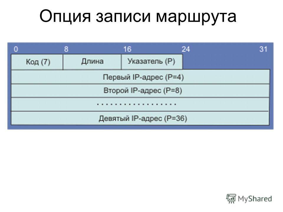Опция записи маршрута