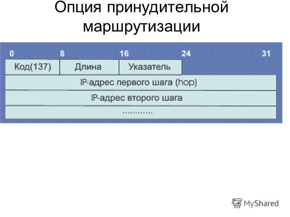 Опция принудительной маршрутизации