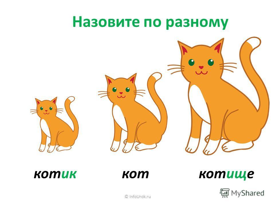Назовите по разному коткотищекотик