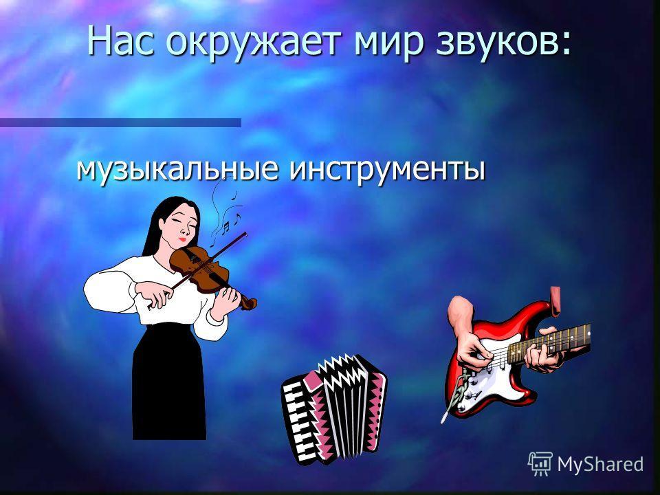 Нас окружает мир звуков: музыкальные инструменты