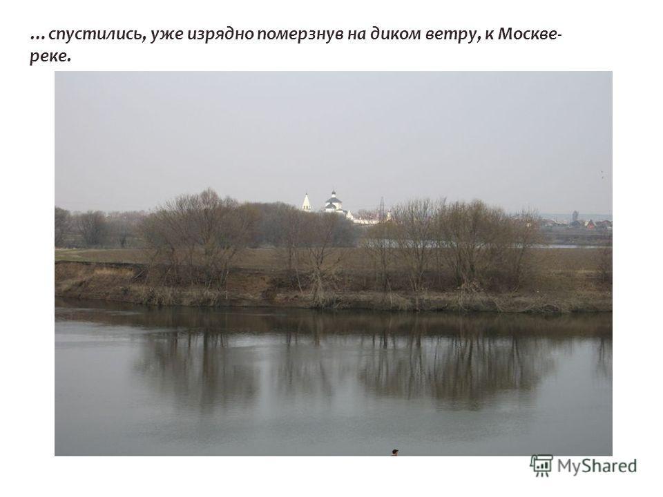 …спустились, уже изрядно померзнув на диком ветру, к Москве- реке.