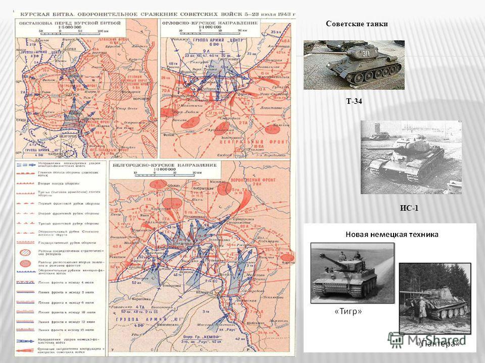 Советские танки Т-34 ИС-1