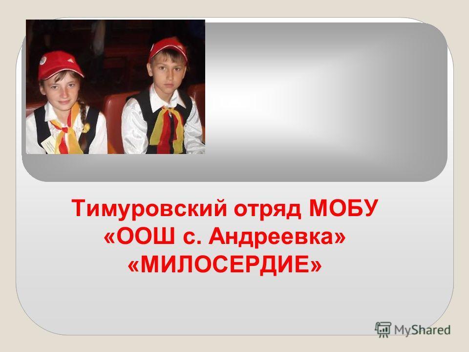 Тимуровский отряд МОБУ «ООШ с. Андреевка» «МИЛОСЕРДИЕ»