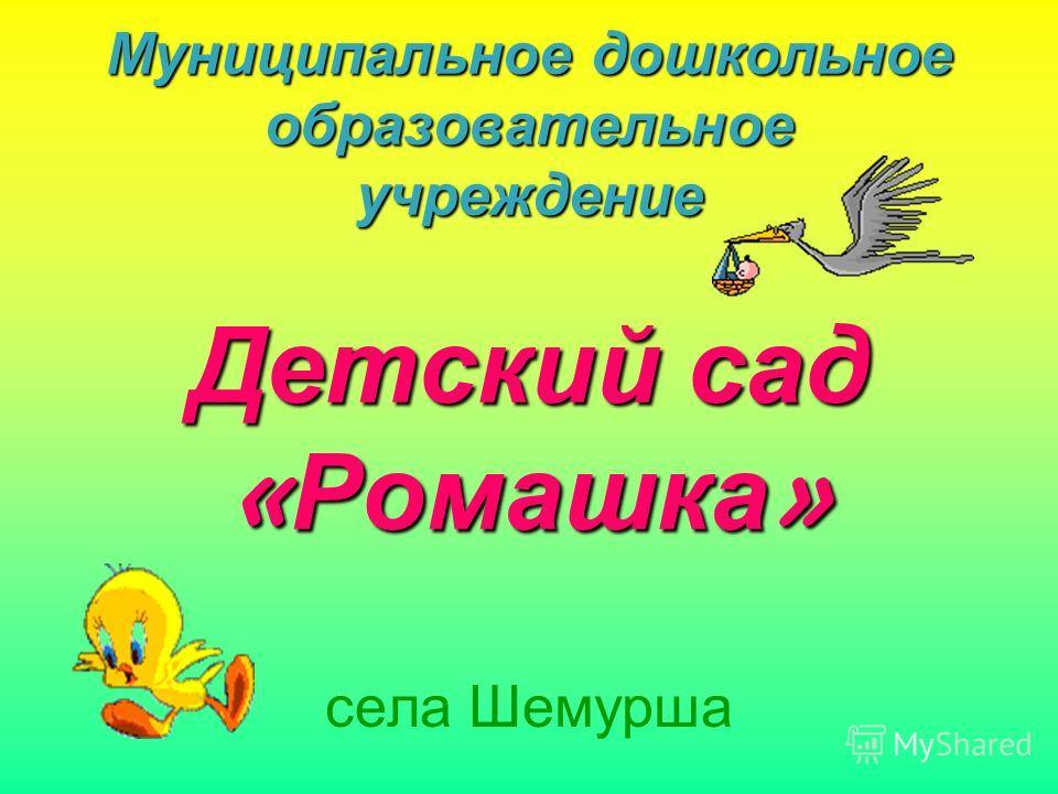 Муниципальное дошкольное образовательное учреждение Детский сад « Ромашка » села Шемурша